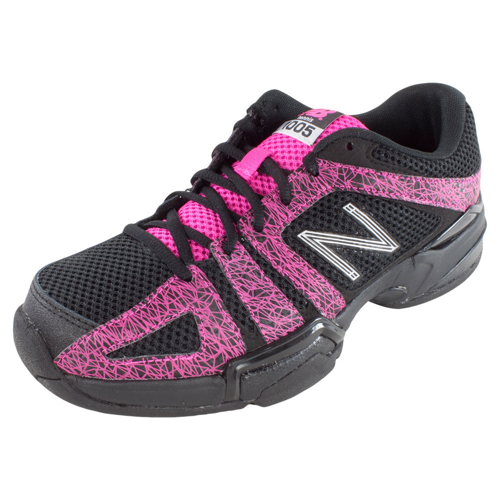 Women's 1005 2a Width Tennis Shoes Black And Pink