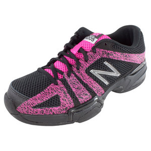 Women`s 1005 2A Width Tennis Shoes Black and Pink