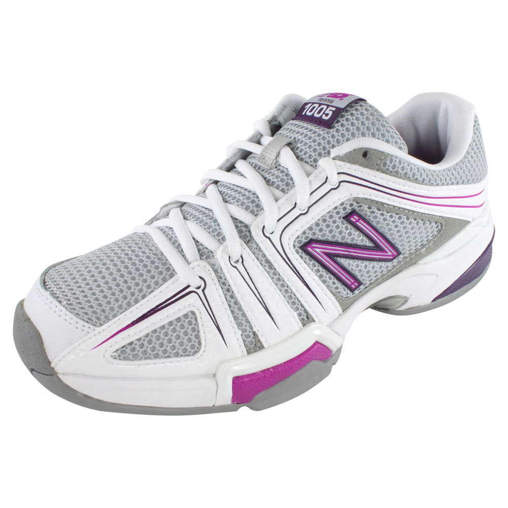 Women's 1005 2a Width Tennis Shoes Gray And Pink