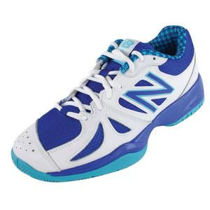 Women`s 696 B Width Tennis Shoes Paradise and UV Blue