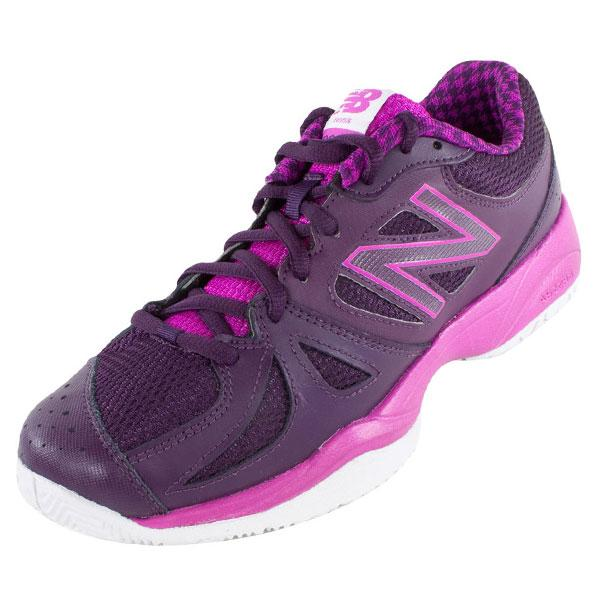 Women's 696 B Width Tennis Shoes Poison Berry And Black Grape