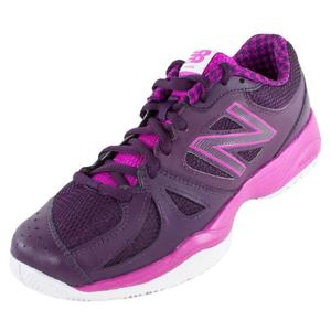 Women`s 696 B Width Tennis Shoes Poison Berry and Black Grape