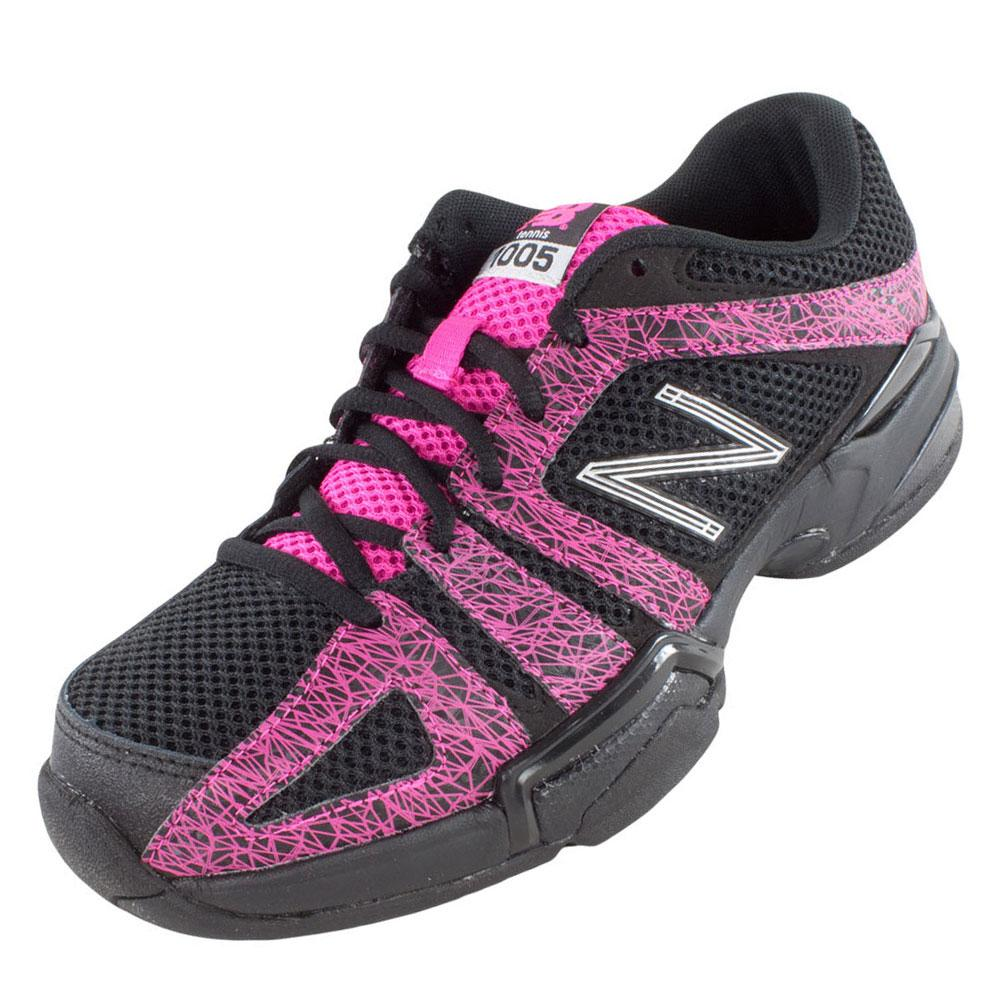 Women's 1005 B Width Tennis Shoes Black And Pink