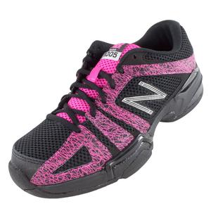 Women`s 1005 B Width Tennis Shoes Black and Pink