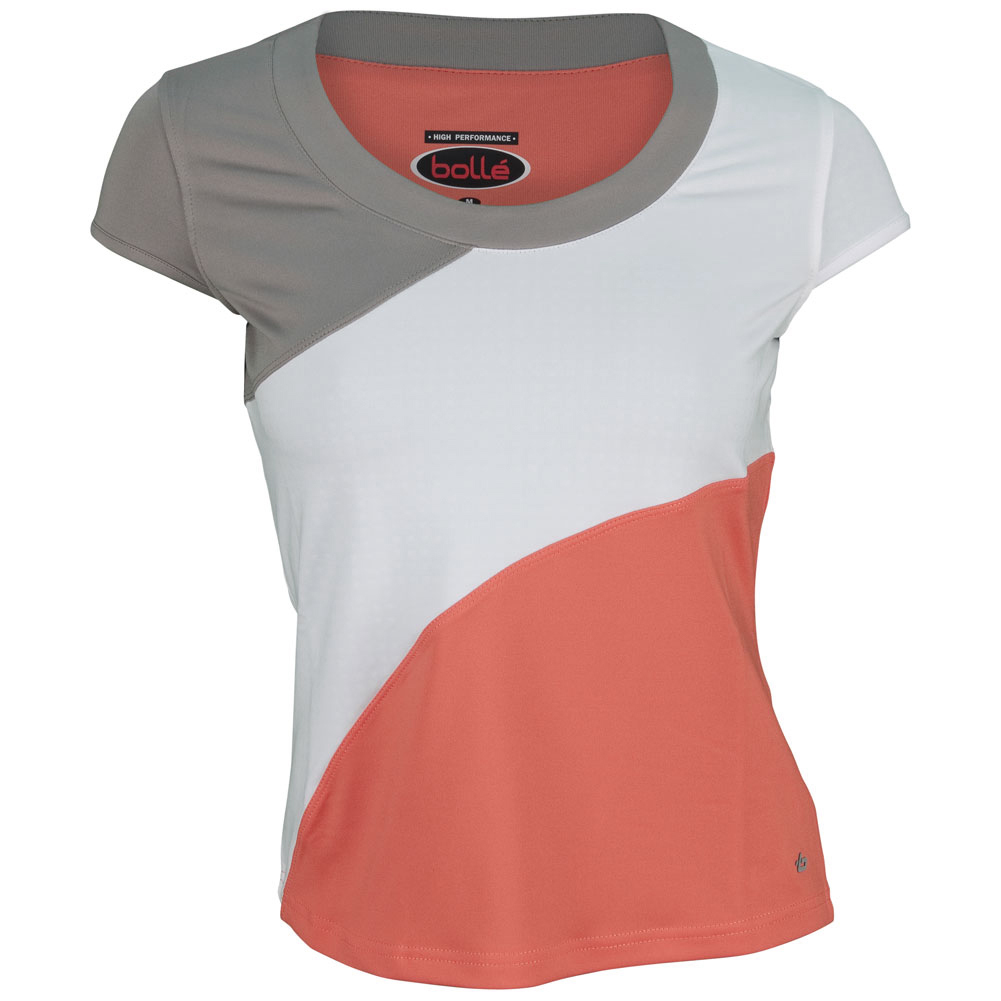 Bolle Women`s Wild Fire Cap Sleeve Tennis Top White and Coral at Sears.com