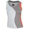 Women`s Wild Fire Tennis Tank White and Taupe by BOLLE