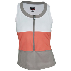 BOLLE WOMENS WILD FIRE TENNIS TANK WHITE/CORAL