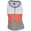 Women`s Wild Fire Tennis Tank White and Coral by BOLLE