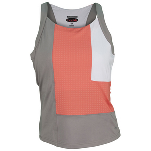 BOLLE WOMENS WILD FIRE TENNIS TANK TAUPE/CORAL