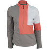 Women`s Wild Fire Long Sleeve Tennis Top Taupe and Coral by BOLLE