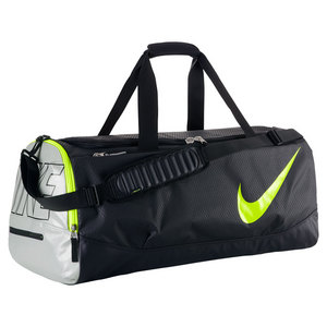 NIKE TENNIS COURT TECH DUFFLE BAG BK/MET SILV