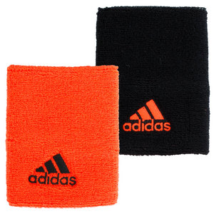 adidas LARGE TENNIS WRISTBAND BLACK/SOLAR RED