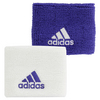 ADIDAS Small Tennis Wristband White and Purple Power
