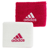 ADIDAS Small Tennis Wristband White and Bold Pink