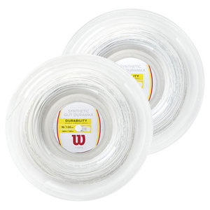 Synthetic Gut Duramax Tennis String Reel White