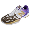 Men`s 996 Wimbledon Tennis Shoes White, Gold, Purprle by NEW BALANCE