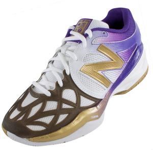 Women`s 996 Tennis Shoes White, Gold, Purple