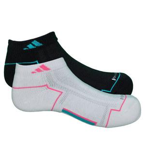 adidas WOMENS CLIMACOOL II LC SOCKS 2PK BK/WH