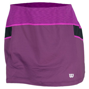 WILSON WMNS ASHLAND HEATHER 12.5 SKIRT PLUM/BK