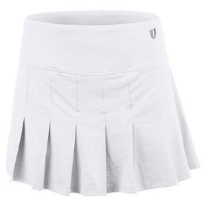 Women`s Flutter 12 Inch Tennis Skort White