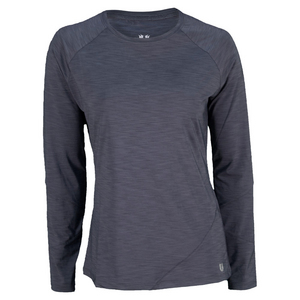 ELEVEN WOMENS ACTIVE RECOVERY LS TNS CREW INK