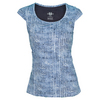 Women`s Burst Cap Sleeve Tennis Top Herringbone Print by ELEVEN