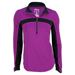 WILSON WOMENS ASHLAND 1/2 ZIP TENNIS TOP EGPNT