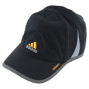 adidas MENS ADIZERO II TENNIS CAP BLACK/HTHR GY