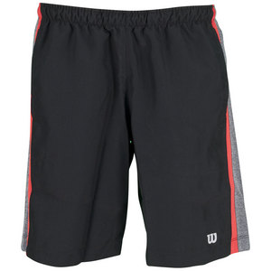 WILSON BOYS ASHLAND 9IN KNIT TNS SHORT BK/CL HT