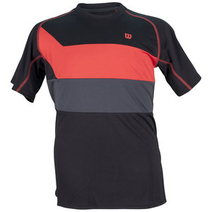 WILSON BOYS ASHLAND TENNIS CREW BLACK/RED