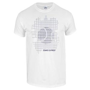 TENNIS EXPRESS STRING BALL UNISEX TENNIS TEE WHITE