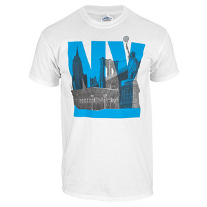 TENNIS EXPRESS NY SKYLINE UNISEX TENNIS TEE WHITE