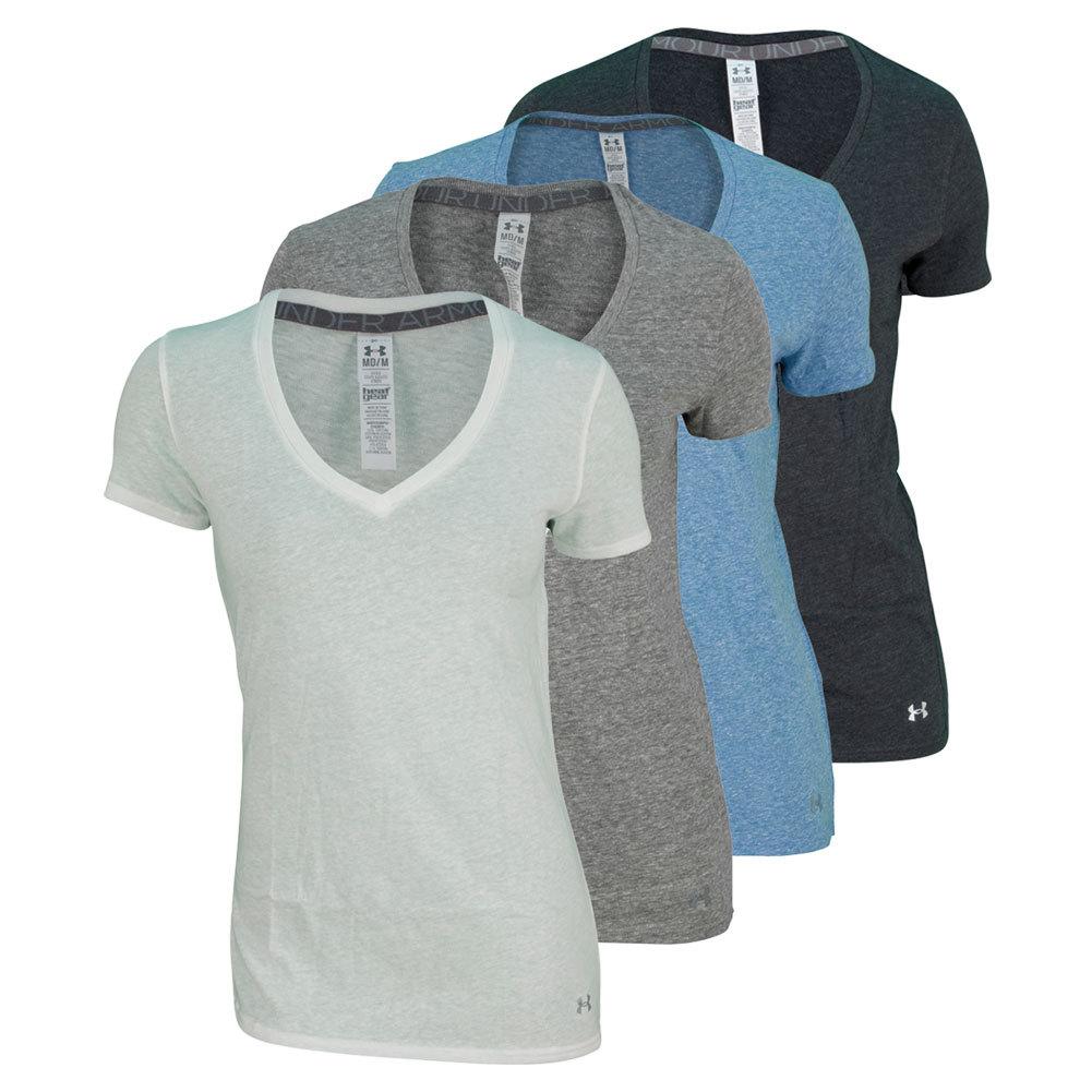 Women`s UA Charged Cotton Short Sleeve V Neck