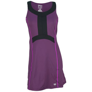 WILSON WMNS ASHLAND CLRBLCK V NECK DRESS PLUM/B