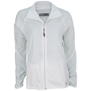 LIJA WOMENS WARM UP TENNIS JACKET WHITE