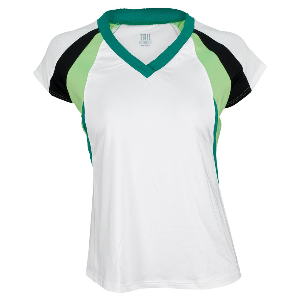 Women`s Nuoto Raglan Sleeve Tennis Tank White
