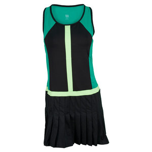 TAIL WOMENS CADENCE TENNIS DRESS EMER/BK
