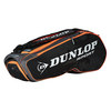 Performance 8 Pack Tennis Bag Black and Orange by DUNLOP
