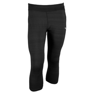 PUMA WOMENS GYM 3/4 TIGHT BLACK HEATHER