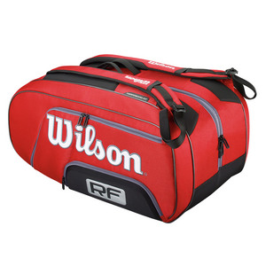 WILSON FEDERER ELITE 12 PACK TENNIS BAG RED