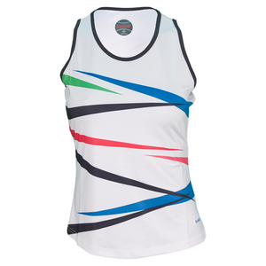 BOLLE WOMENS TRUE COLORS TENNIS TANK WHITE