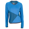 BOLLE Women`s True Colors Long Sleeve Tennis Top Blue and Graphite
