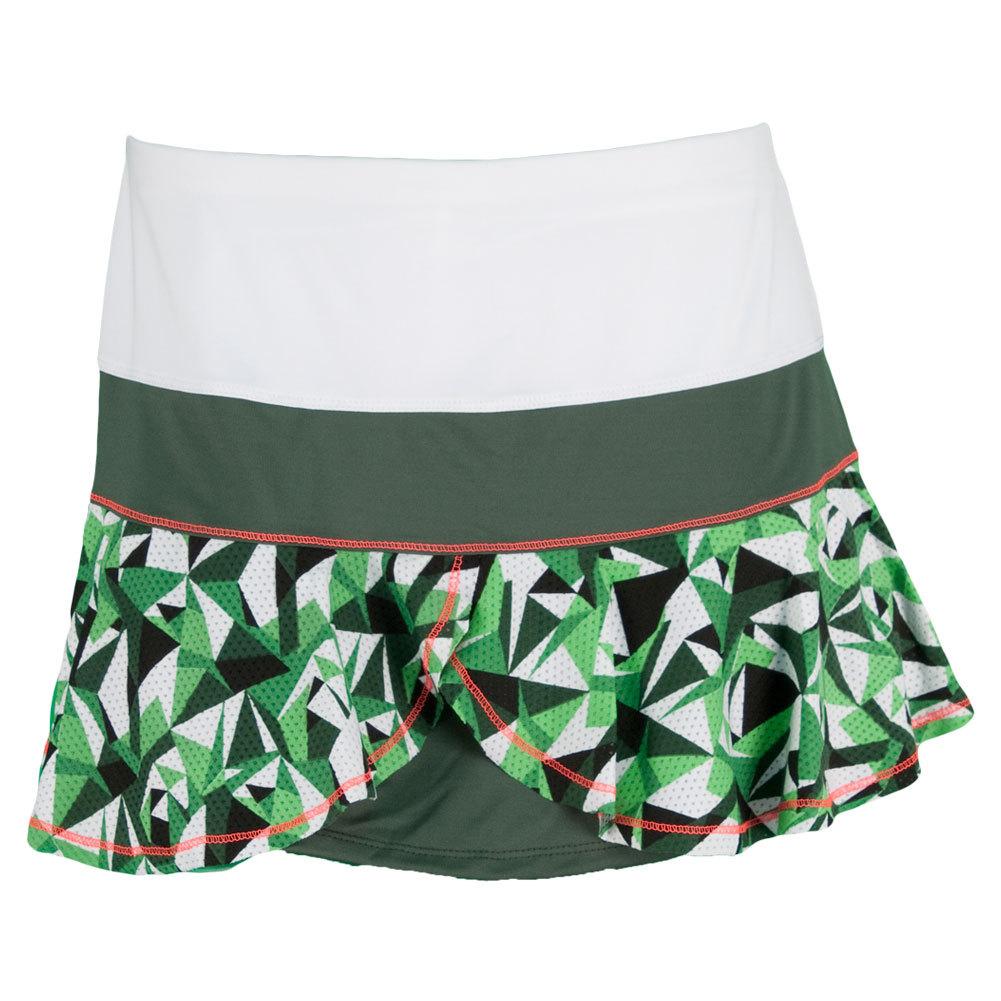 Lucky In Love Women`s Geo Camo Flounce Tennis Skirt Print at Sears.com