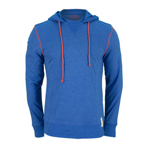 LIFE IS GOOD MENS SPORT HOODIE TEE SAPPHIRE BLUE