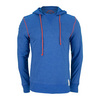 Men`s Sport Hoodie Tee Sapphire Blue by LIFE IS GOOD
