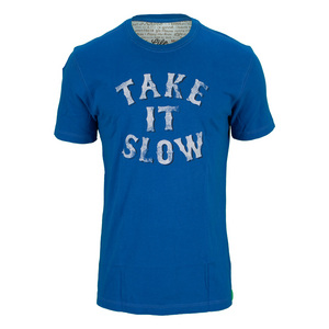 LIFE IS GOOD MENS TAKE IT SLOW TEE SAPPHIRE BLUE