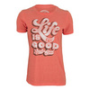 LIFE IS GOOD Women`s Really Good Tee Chili Red