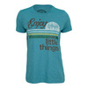 LIFE IS GOOD Women`s Little Things Tee Turquoise Blue