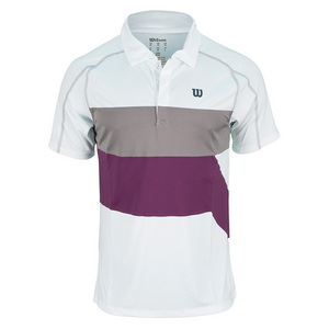 WILSON MENS ASHLAND COLORBAND TNS POLO WH/GY