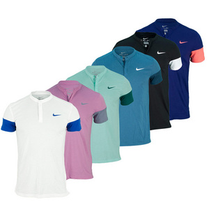 NIKE MENS DRI-FIT TOUCH SOLID TENNIS HENLEY
